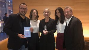 Photo of J59, Candela and MADD Canada team at the Crystal Awards
