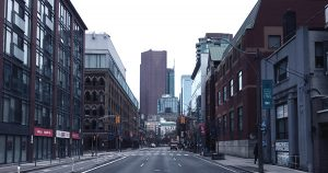 An mage of an empty street.