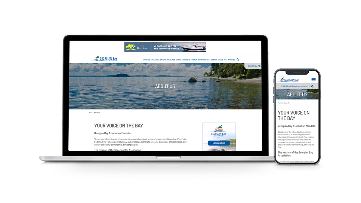 Georgian Bay's new About page