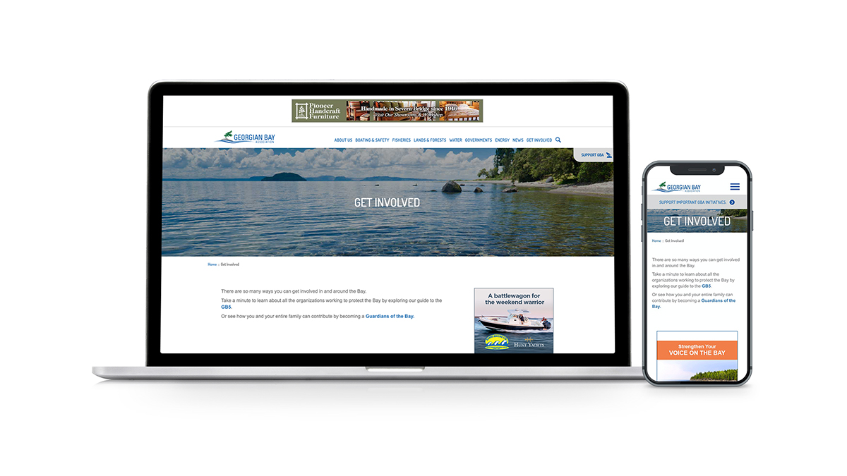 Georgian Bay's new Get Involved page