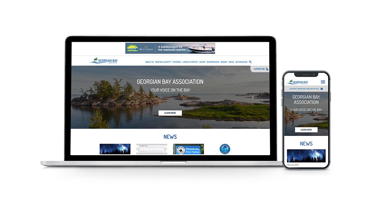 Georgian Bay's new Home page