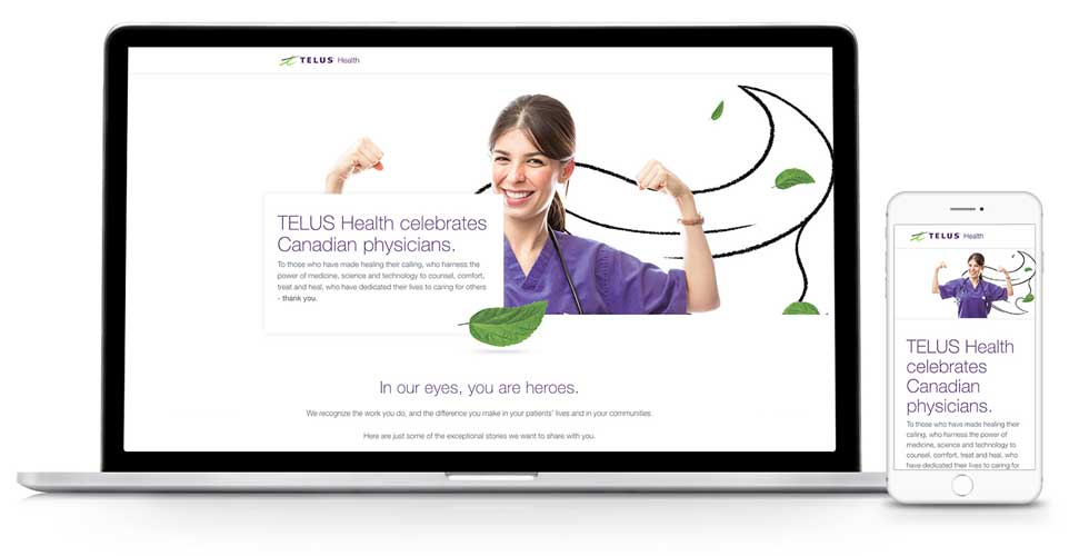 TELUS Health Heroes campaign Landing Page