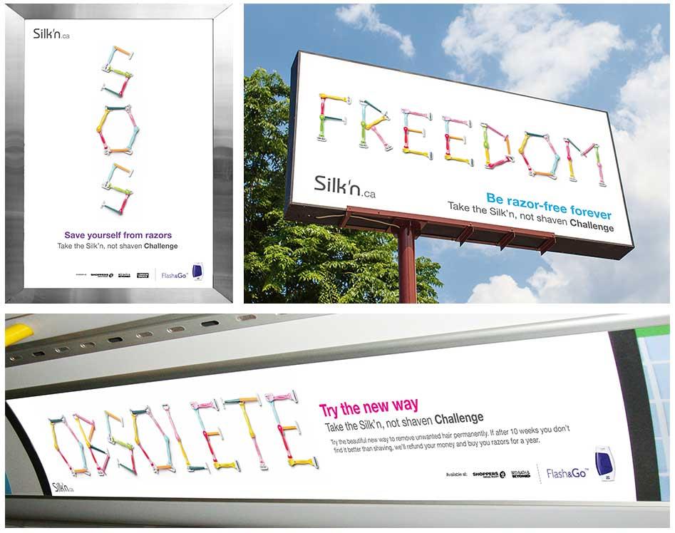 Silk'n Not Shaven Challenge Billboards