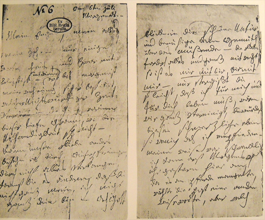 """An image of Beethoven's letter to his """"Immortal Beloved"""" - See text below image."""
