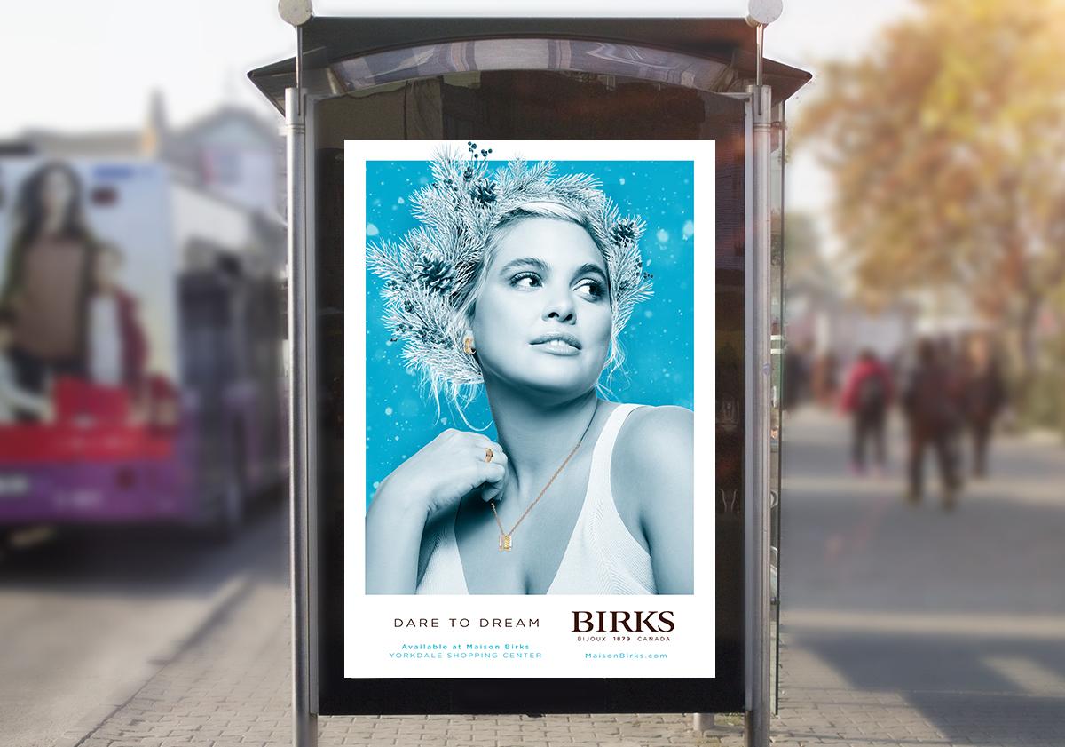 Birks bus shelter ad