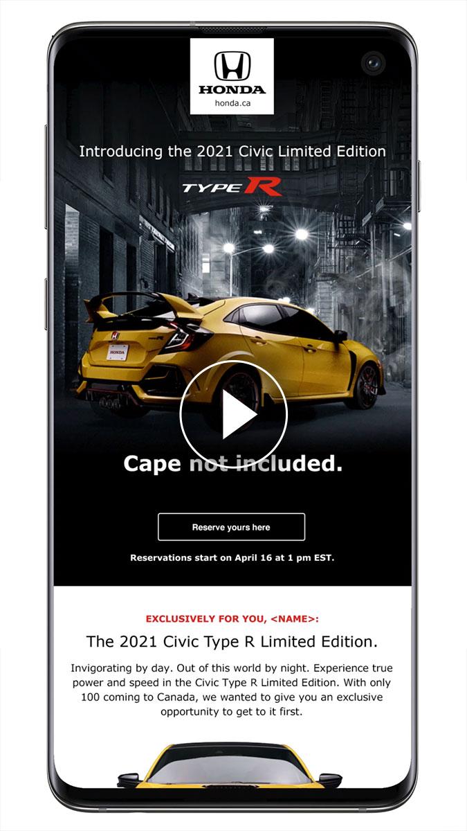 Honda Type R Campaign