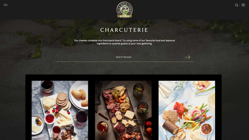Black River Cheese Website Redesign