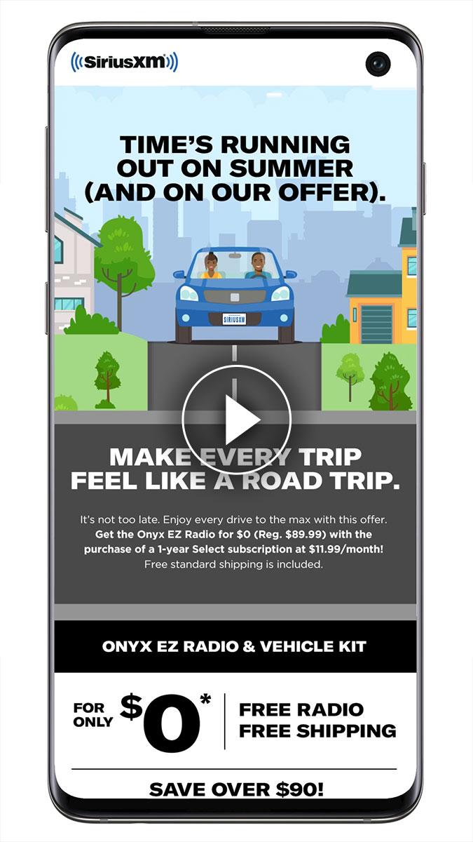 SXM Scrolling Car campaign
