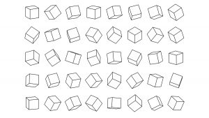 various images of cubes in different angles